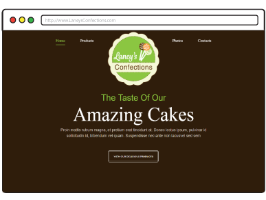 Laneys Confections Website
